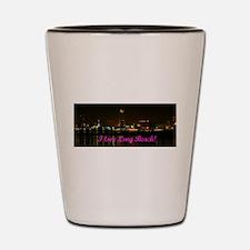 I Love Long Beach Skyline Night Shot Glass