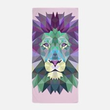Triangle Colorful Lion Head Beach Towel