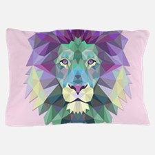 Triangle Colorful Lion Head Pillow Case