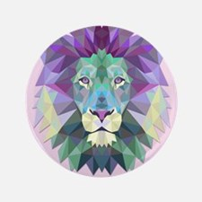 Triangle Colorful Lion Head Button