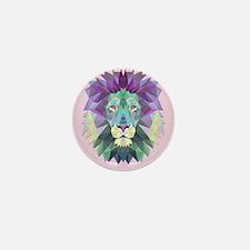 Triangle Colorful Lion Head Mini Button (10 pack)