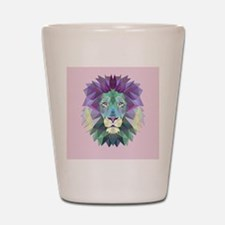 Triangle Colorful Lion Head Shot Glass