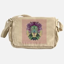 Triangle Colorful Lion Head Messenger Bag