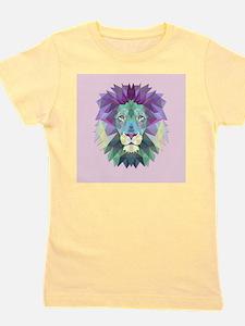 Triangle Colorful Lion Head Girl's Tee