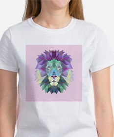 Triangle Colorful Lion Head T-Shirt