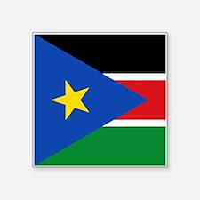 "South Sudan Flag Square Sticker 3"" x 3"""