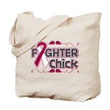 Throat Cancer Fighter Chick Tote Bag