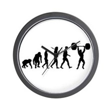 Evolution of Weightlifting Wall Clock