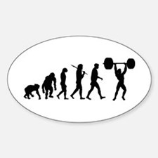 Evolution of Weightlifting Oval Decal