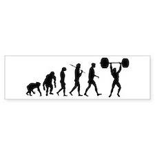 Evolution of Weightlifting Bumper Bumper Sticker