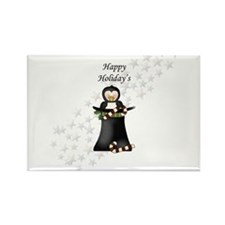 Happy Holiday's Top Hat Penguin Magnets