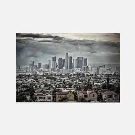 Los Angeles, East View Rectangle Magnet
