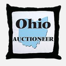 Ohio Auctioneer Throw Pillow