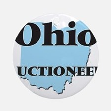 Ohio Auctioneer Round Ornament