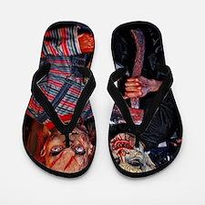 Cool Halloween dolls Flip Flops