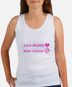 Love Health, Hate Cancer Charity Design Tank Top