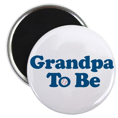 grandpa to be baseball Magnet