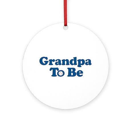 grandpa to be baseball Ornament (Round)