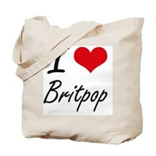 I Love BRITPOP Tote Bag