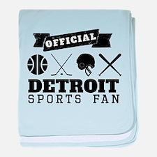 Official Detroit Sports Fan baby blanket