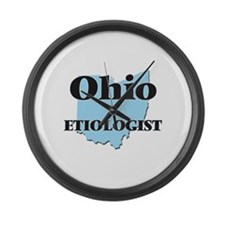 Ohio Etiologist Large Wall Clock