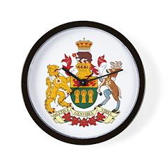 Saskatchevan Coat of Arms Wall Clock