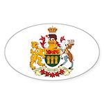 Saskatchevan Coat of Arms Oval Sticker