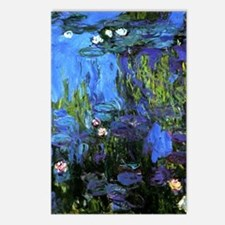 Monet painting, Water-Lil Postcards (Package of 8)