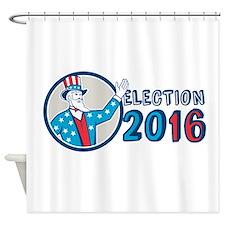 Election 2016 Uncle Sam Hand Up Circle Retro Showe