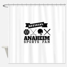 Official Anaheim Sports Fan Shower Curtain