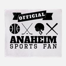 Official Anaheim Sports Fan Throw Blanket