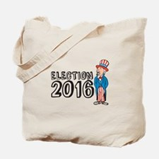 Election 2016 Uncle Sam Shouting Retro Tote Bag