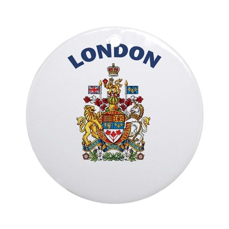 London Coat of Arms Ornament (Round)