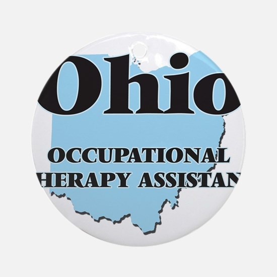 Ohio Occupational Therapy Assistant Round Ornament
