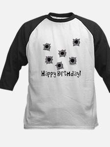 Happy Birthday Bullets Kids Baseball Jersey