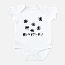 Happy Birthday Bullets Infant Bodysuit