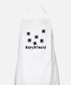Happy Birthday Bullets BBQ Apron