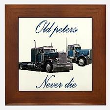 Old Peter Never Die Framed Tile