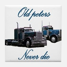 Old Peter Never Die Tile Coaster