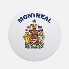 Montreal Coat of Arms Ornament (Round)