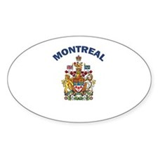 Montreal Coat of Arms Oval Decal