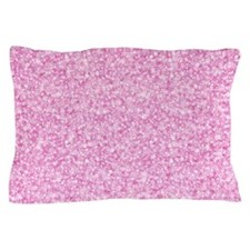 Elegant Pink Glitter Pillow Case