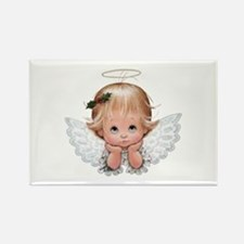 Cute Christmas Baby Angel Head In Hands Magnets