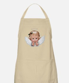 Cute Christmas Baby Angel Head In Hands Apron