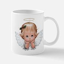 Cute Christmas Baby Angel Head In Hands Mugs