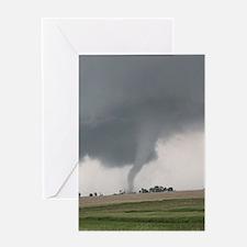 Field Tornado Greeting Cards