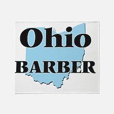 Ohio Barber Throw Blanket