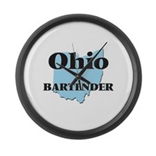 Ohio Bartender Large Wall Clock