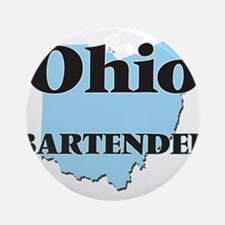 Ohio Bartender Round Ornament
