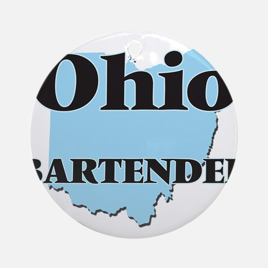 Ohio Bartender Round Ornament